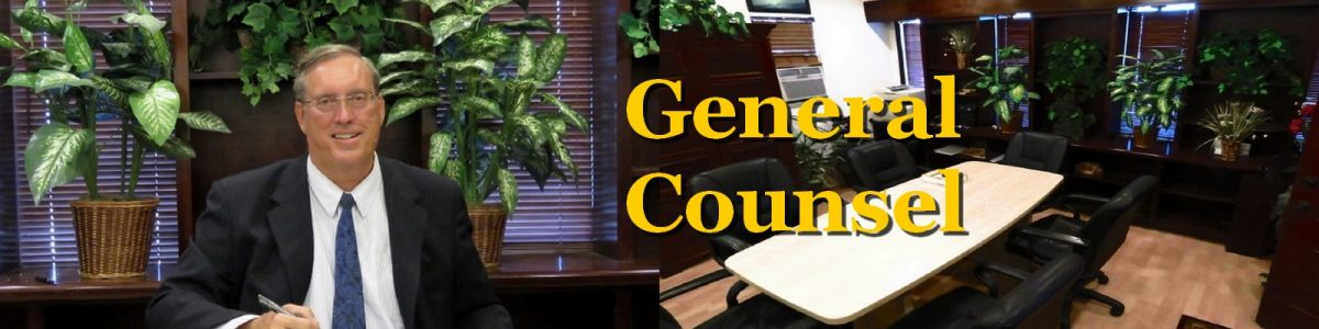 Herbert L. Allen, Jr., P.A., General Counsel Attorney, LawGeneralCounsel.com, offers general counsel services to corproations, LLC'S, and other busness entities with legal matters in Satellite Beach, Florida 32937, Melbourne, Florida 32901, and all of Flroida.