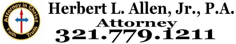 Herbert L. Allen, Jr., P.A., Attorney, offers legal services to Satellite Beach, Florida 32937 and Melbourne, Florida 32901.